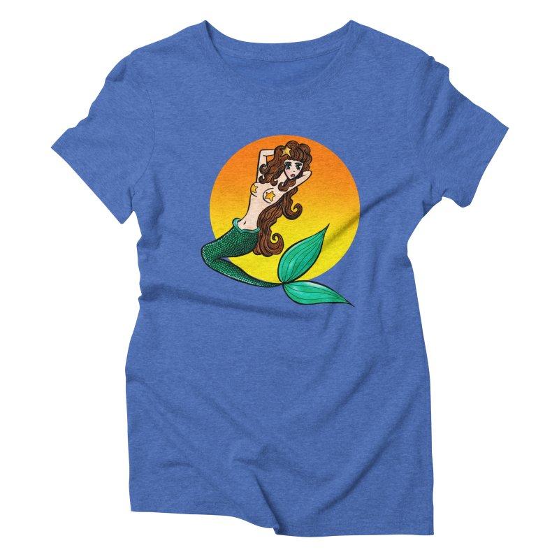 Sunny Mermaid Women's Triblend T-Shirt by jessperezes's Artist Shop