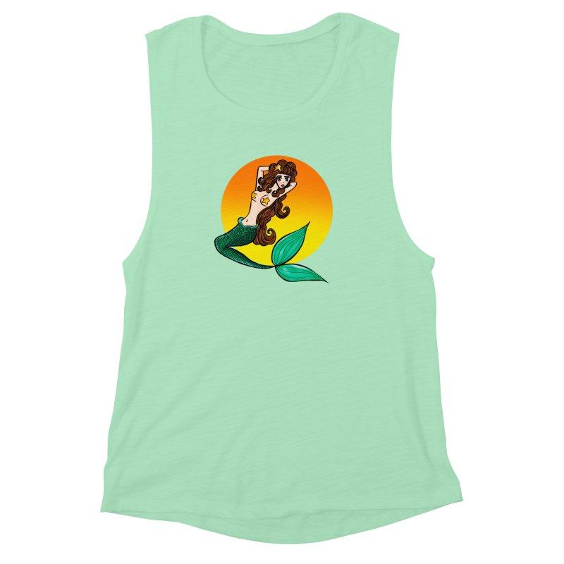 Sunny Mermaid Women's Muscle Tank by jessperezes's Artist Shop