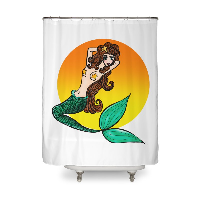 Sunny Mermaid Home Shower Curtain by jessperezes's Artist Shop