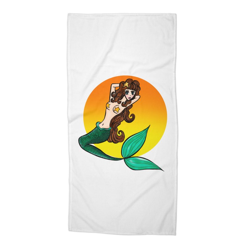 Sunny Mermaid Accessories Beach Towel by jessperezes's Artist Shop