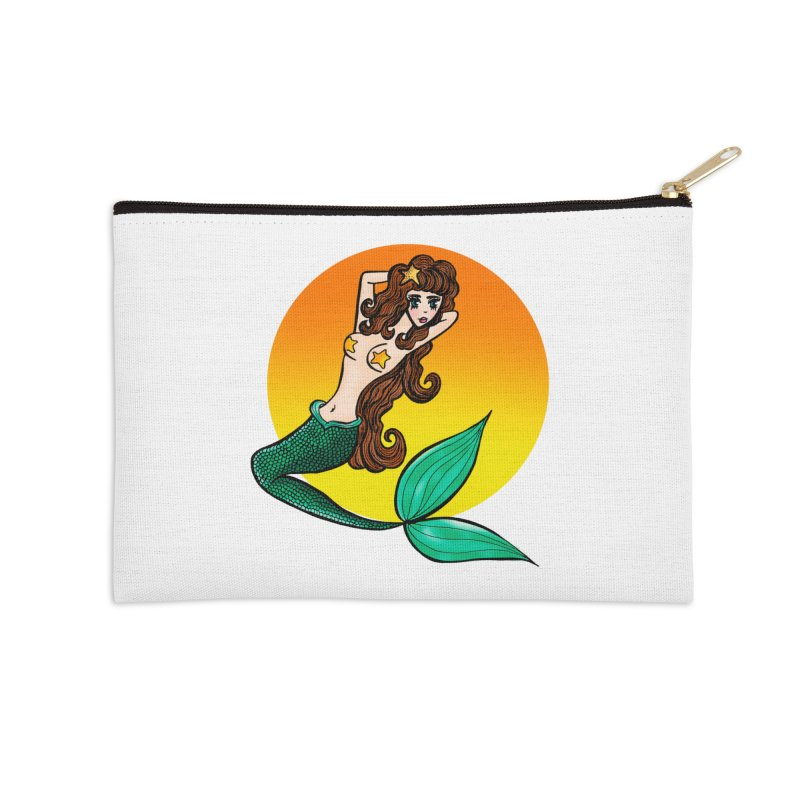 Sunny Mermaid Accessories Zip Pouch by jessperezes's Artist Shop