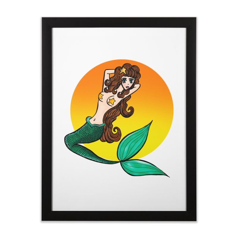 Sunny Mermaid Home Framed Fine Art Print by jessperezes's Artist Shop