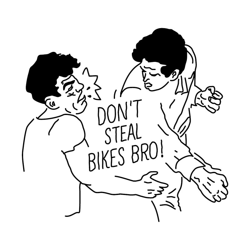 DON'T STEAL BIKE BRO Men's Triblend T-shirt by JESUS SKID SHOP
