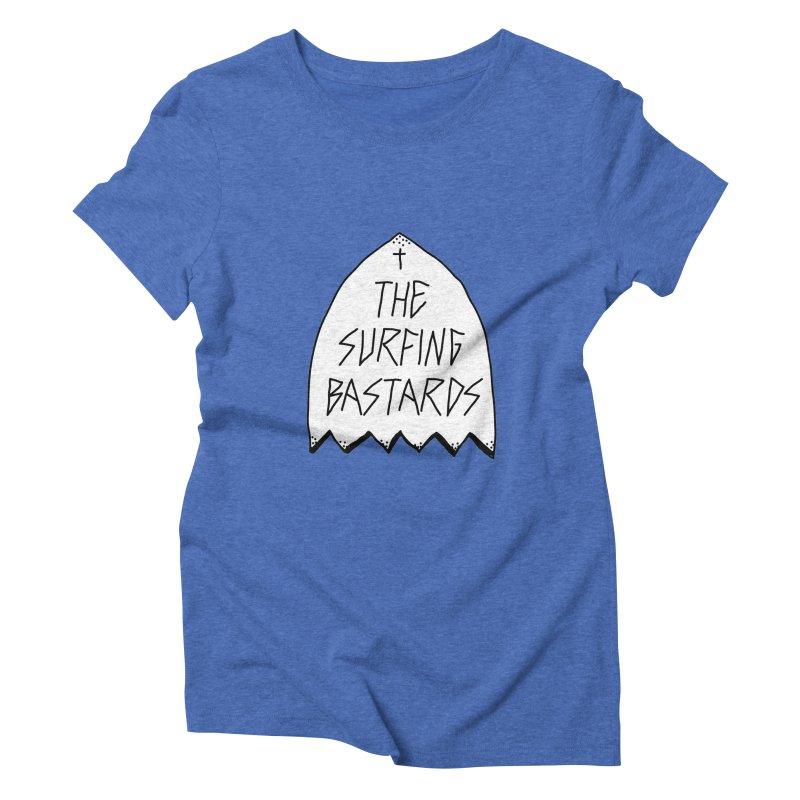 Surfing Bastards Women's Triblend T-shirt by JESUS SKID SHOP
