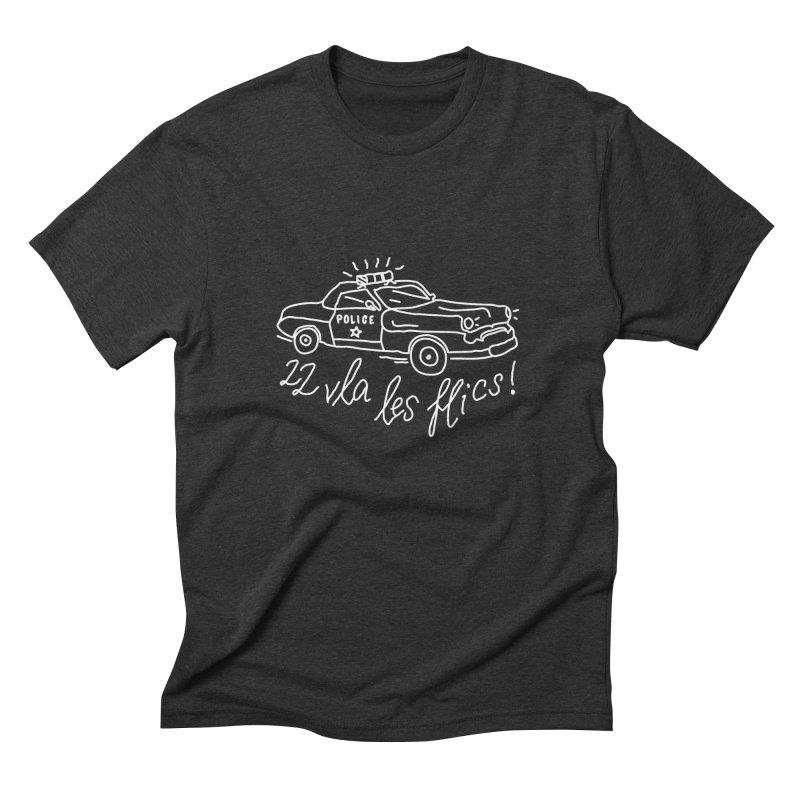 Police Men's Triblend T-Shirt by JESUS SKID SHOP