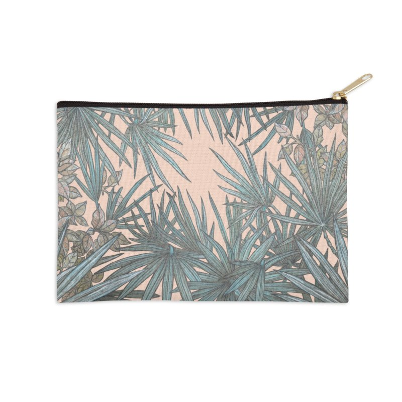 Surf Palmetto Accessories Zip Pouch by Chapman at Sea // surf art by Tash Chapman