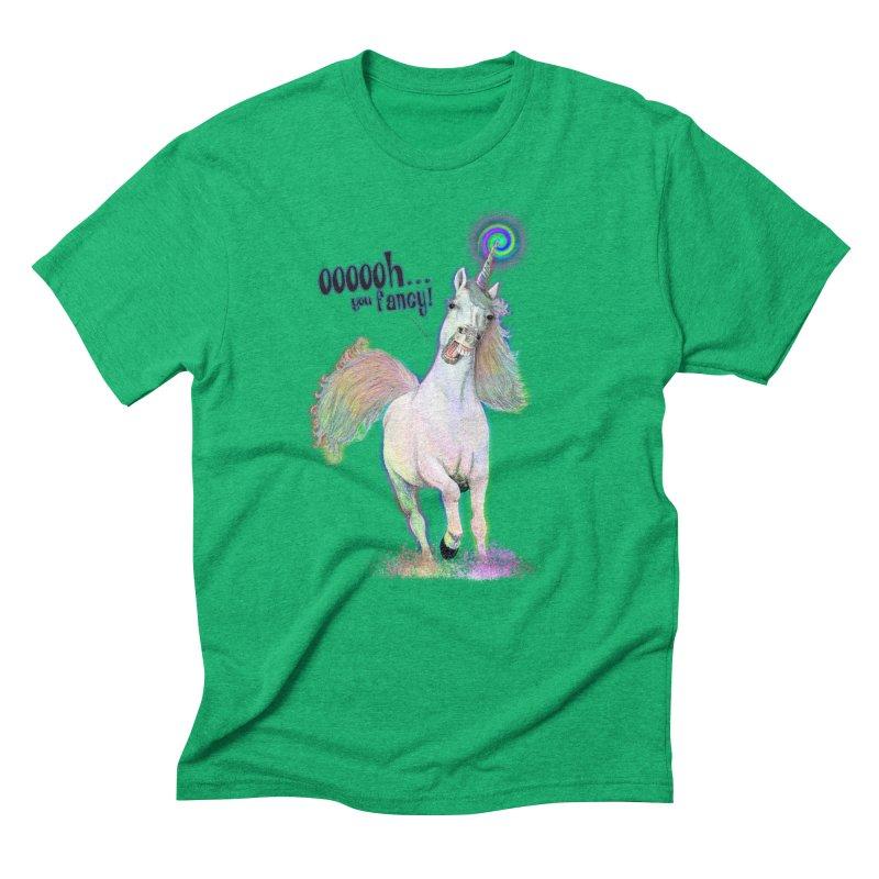 Fancy AF in Men's Triblend T-Shirt Tri-Kelly by Jason Henricks' Artist Shop