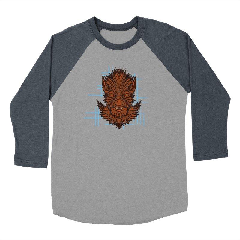 WOLFIE Men's Baseball Triblend Longsleeve T-Shirt by Jason Henricks' Artist Shop
