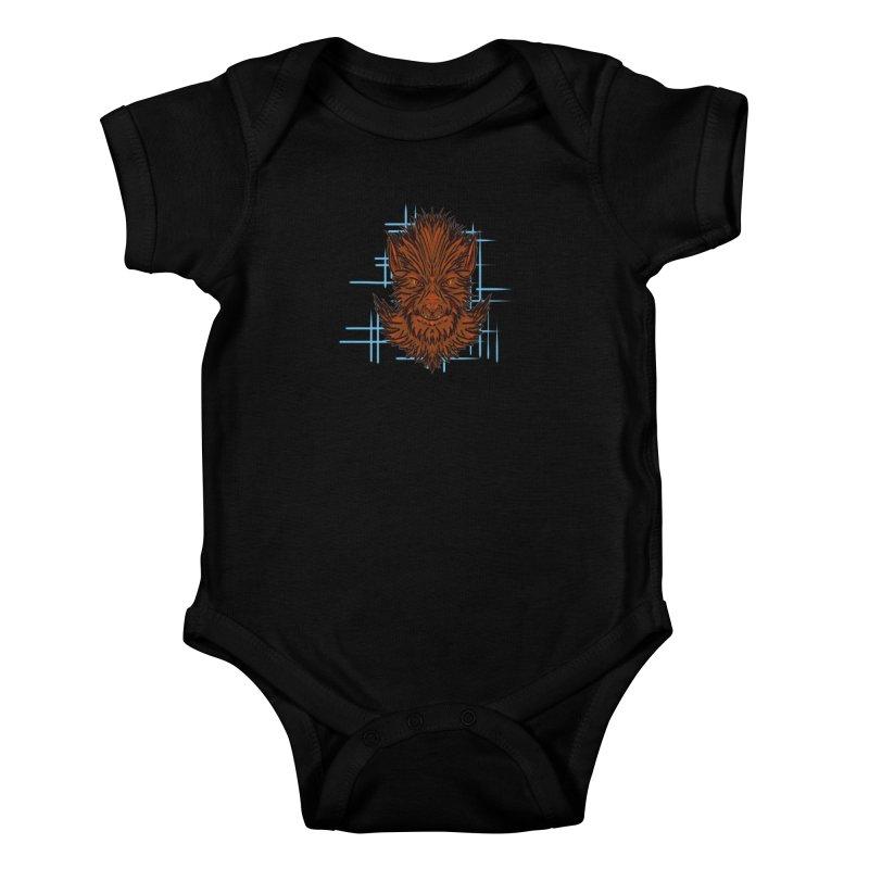 WOLFIE Kids Baby Bodysuit by Jason Henricks' Artist Shop