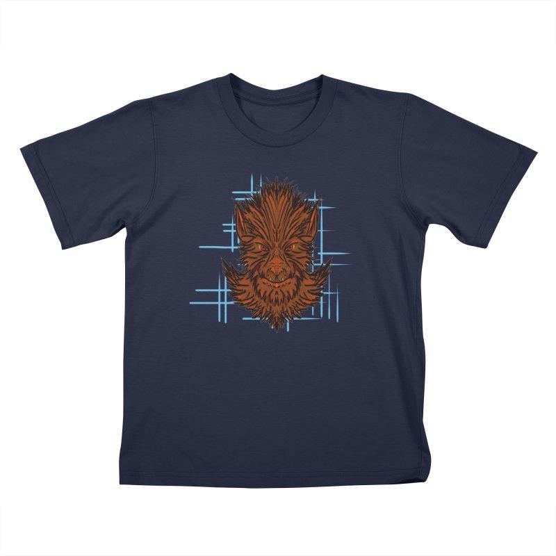 WOLFIE Kids T-Shirt by Jason Henricks' Artist Shop