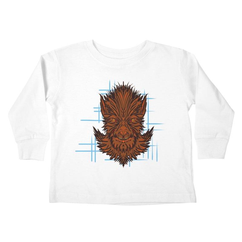 WOLFIE Kids Toddler Longsleeve T-Shirt by Jason Henricks' Artist Shop