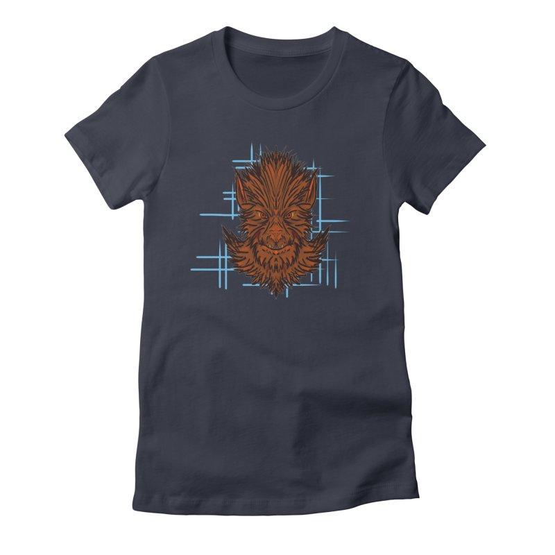 WOLFIE Women's Fitted T-Shirt by Jason Henricks' Artist Shop