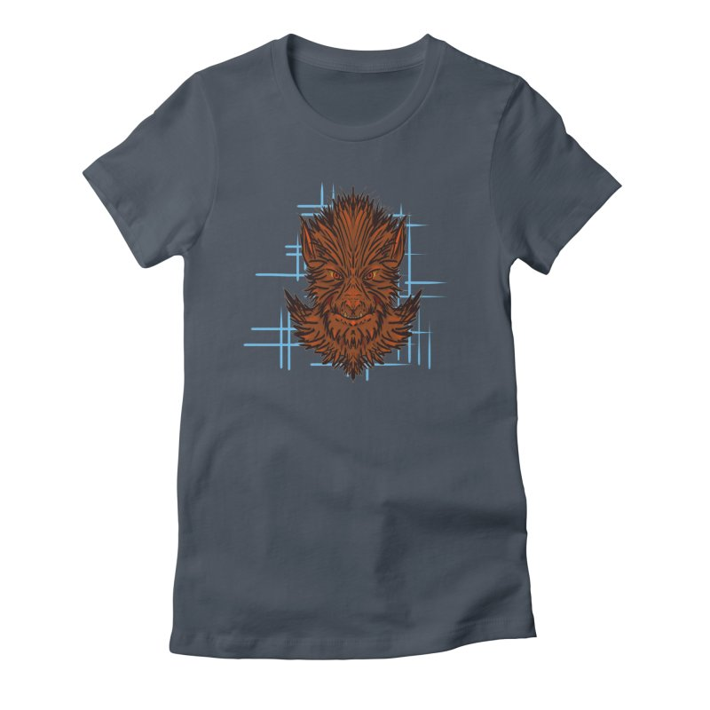 WOLFIE Women's Fitted T-Shirt by Jason Henricks' Artist Shop