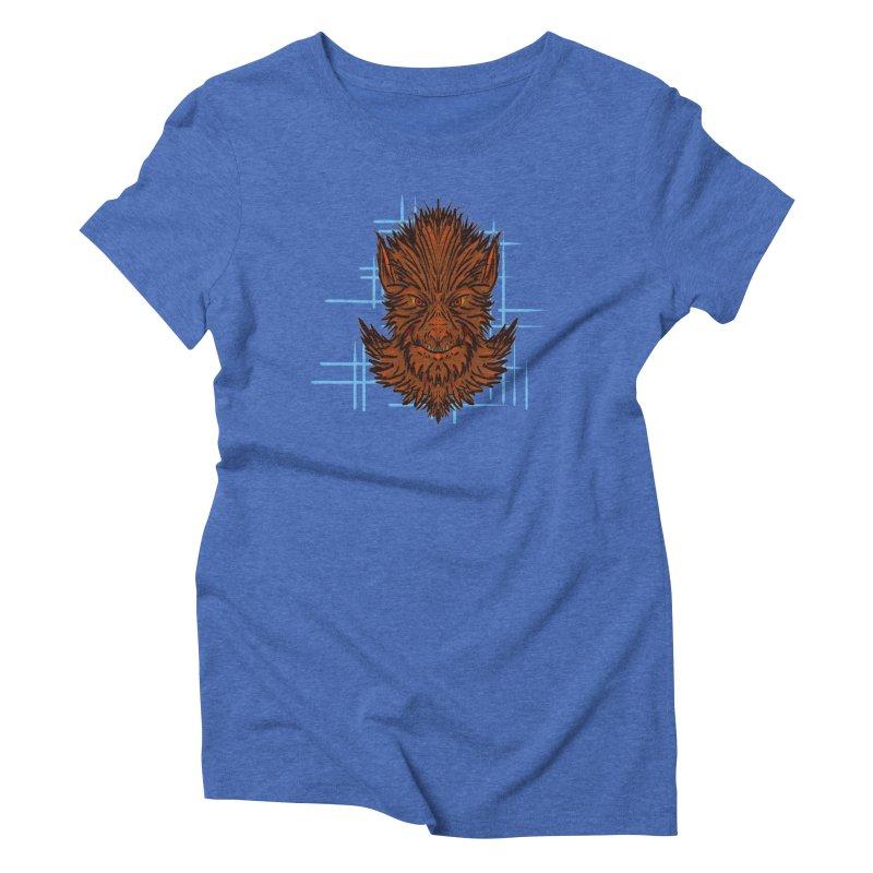 WOLFIE Women's Triblend T-Shirt by Jason Henricks' Artist Shop