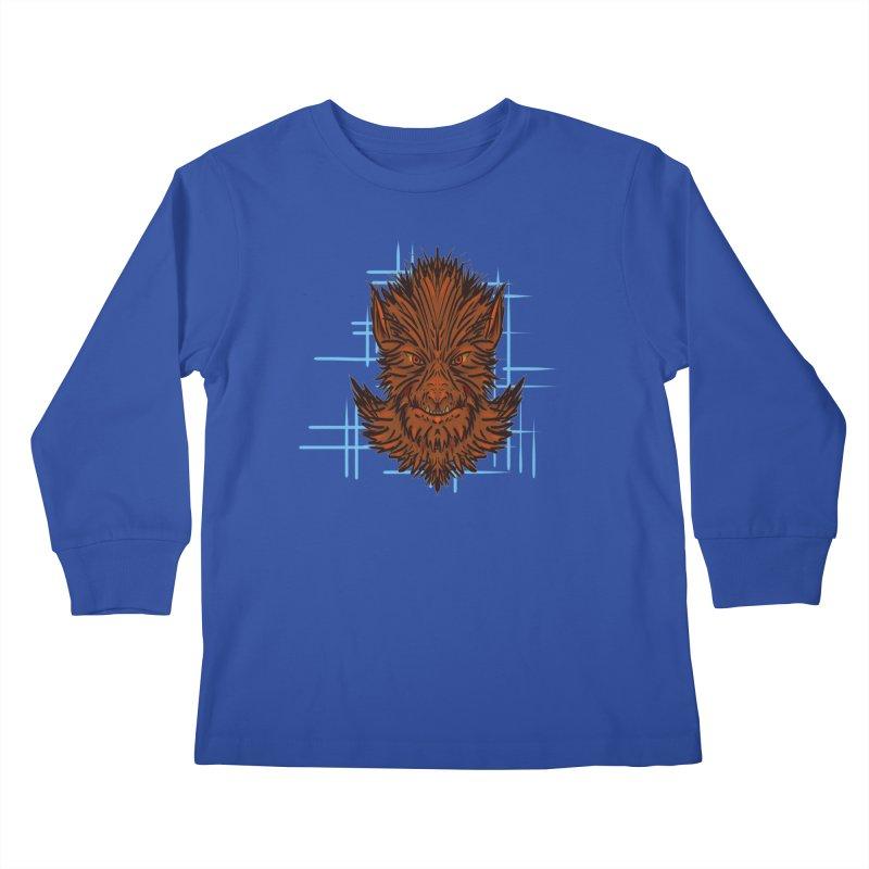 WOLFIE Kids Longsleeve T-Shirt by Jason Henricks' Artist Shop