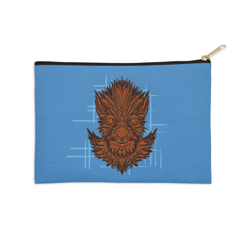 WOLFIE Accessories Zip Pouch by Jason Henricks' Artist Shop