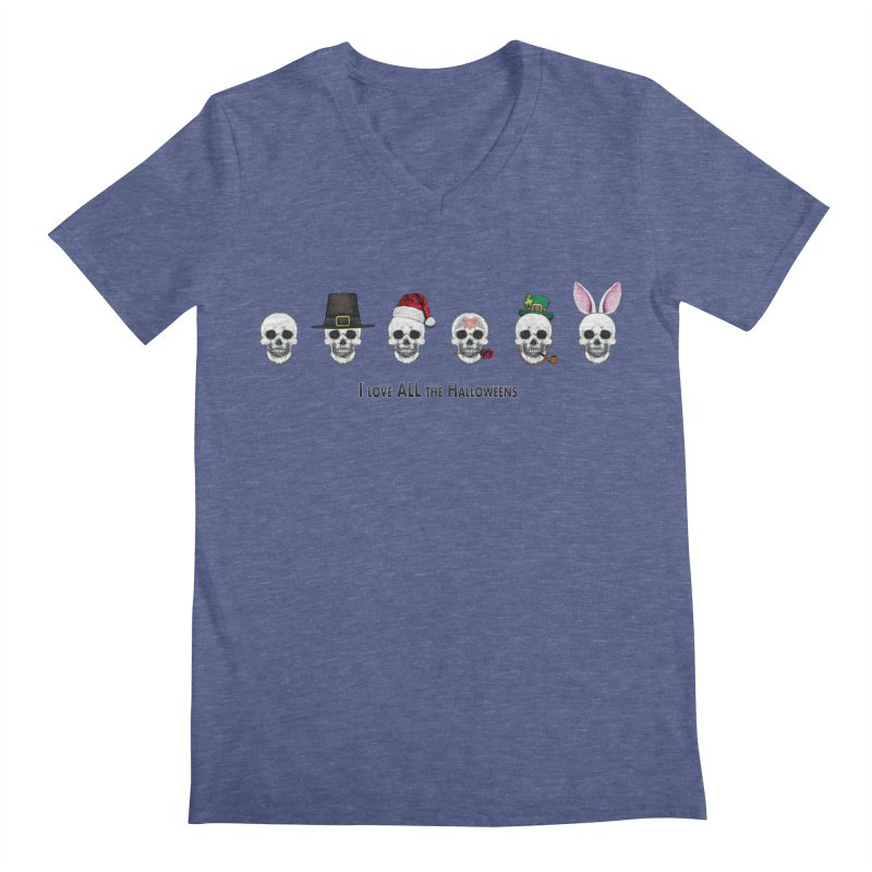 All the Halloweens Men's V-Neck by Jason Henricks' Artist Shop