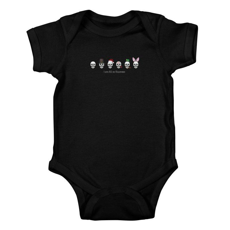 All the Halloweens Kids Baby Bodysuit by Jason Henricks' Artist Shop