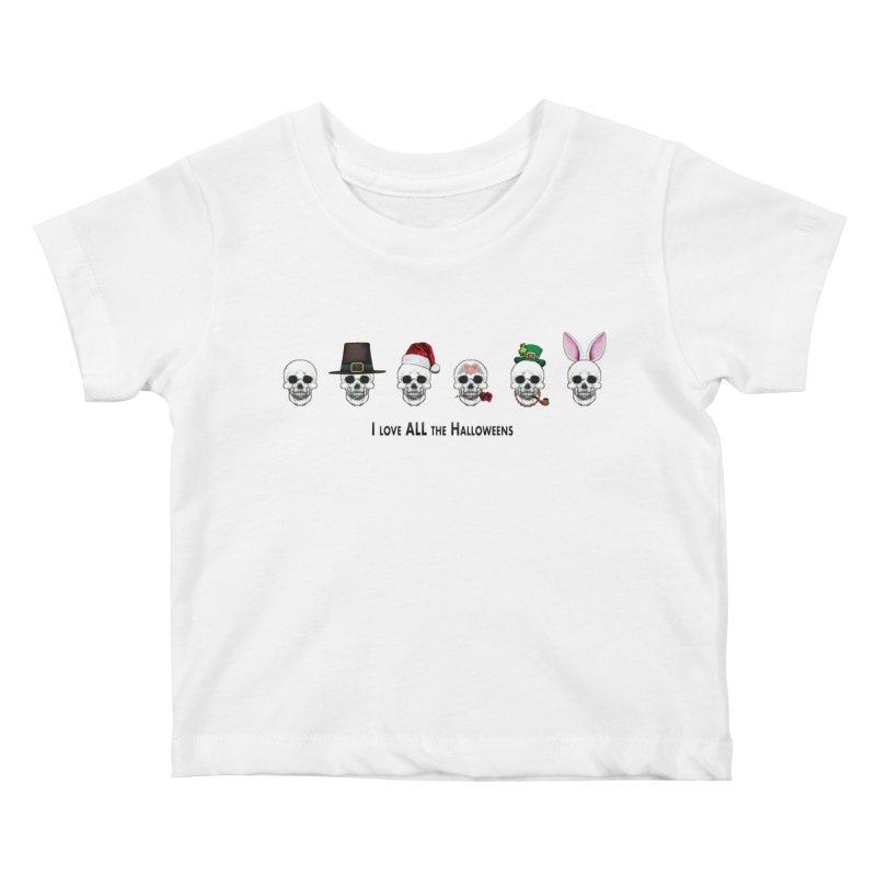 All the Halloweens Kids Baby T-Shirt by Jason Henricks' Artist Shop