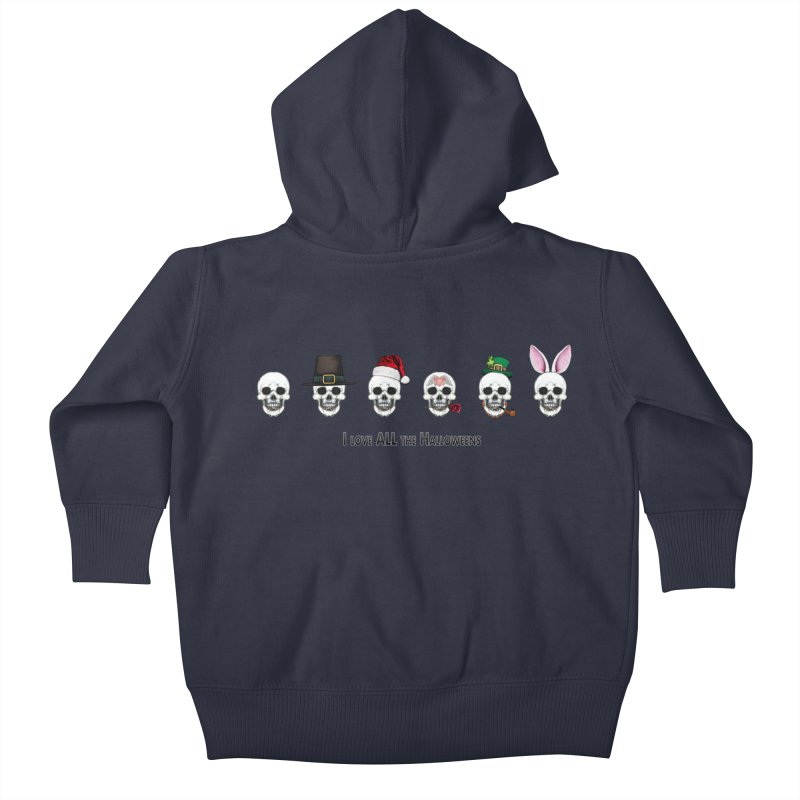 All the Halloweens Kids Baby Zip-Up Hoody by Jason Henricks' Artist Shop