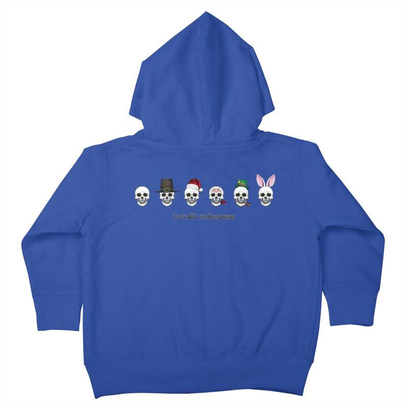All the Halloweens Kids Toddler Zip-Up Hoody by Jason Henricks' Artist Shop