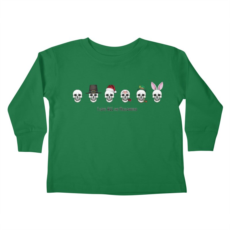 All the Halloweens Kids Toddler Longsleeve T-Shirt by Jason Henricks' Artist Shop