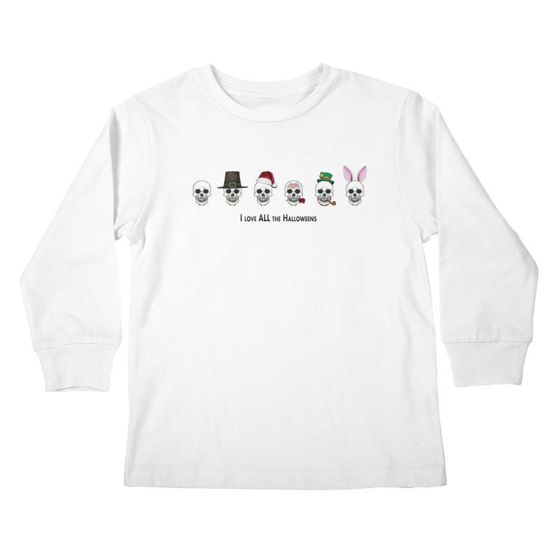 All the Halloweens Kids Longsleeve T-Shirt by Jason Henricks' Artist Shop