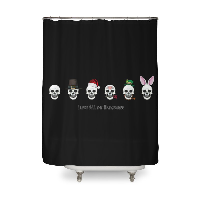 All the Halloweens Home Shower Curtain by Jason Henricks' Artist Shop