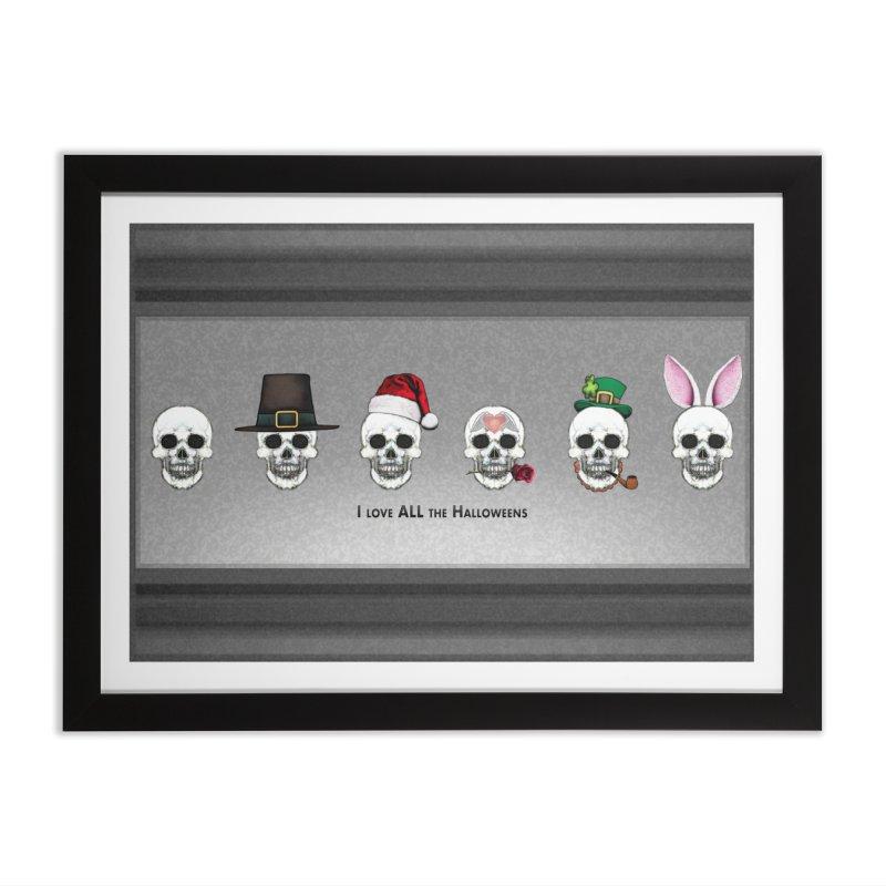 All the Halloweens Home Framed Fine Art Print by Jason Henricks' Artist Shop