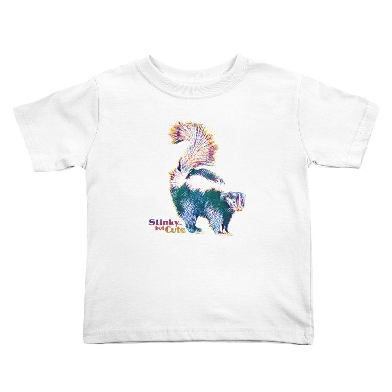 She Stinky, but She Cute Kids Toddler T-Shirt by Jason Henricks' Artist Shop