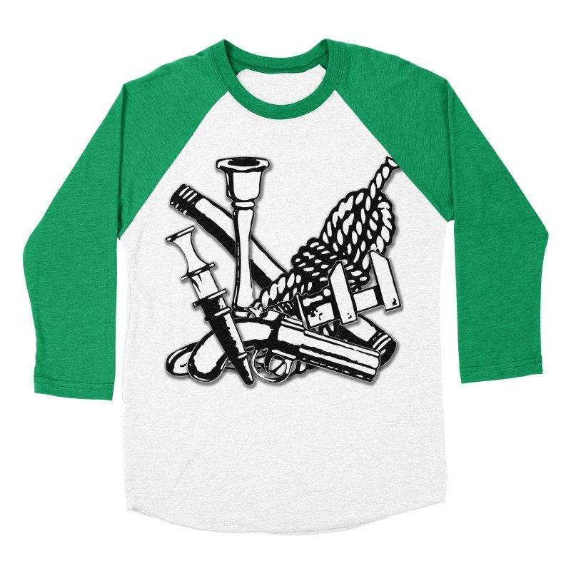 I'm not saying the butler did it, but... Women's Baseball Triblend Longsleeve T-Shirt by Jason Henricks' Artist Shop