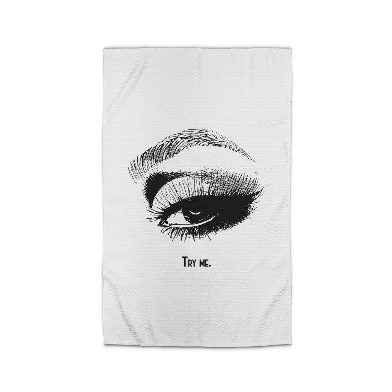 Try me. Home Rug by Jason Henricks' Artist Shop