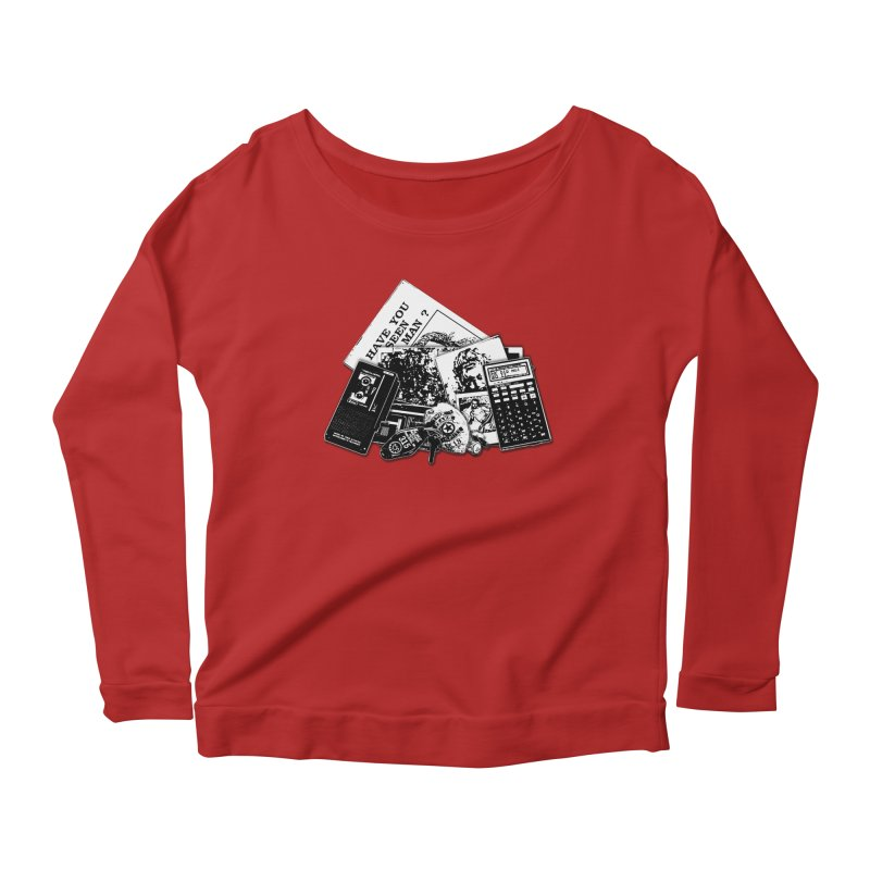 We're going to need some more coffee. Women's Longsleeve Scoopneck  by Jason Henricks' Artist Shop