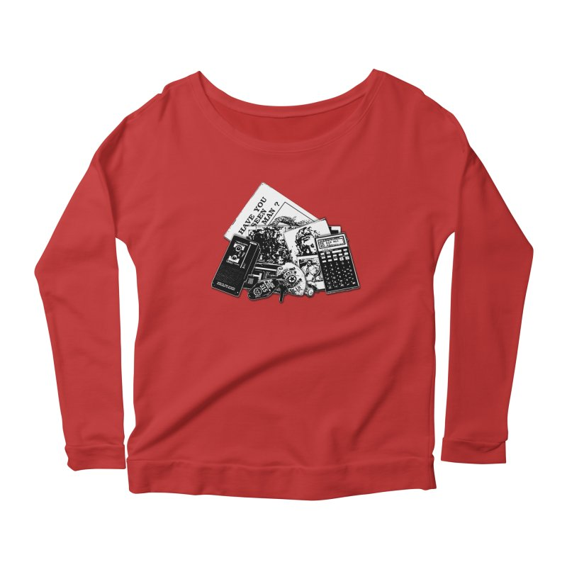 We're going to need some more coffee. Women's Scoop Neck Longsleeve T-Shirt by Jason Henricks' Artist Shop