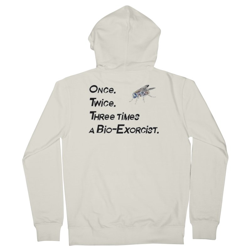 Once. Twice. Three times a Bio-Exorcist. Women's Zip-Up Hoody by Jason Henricks' Artist Shop