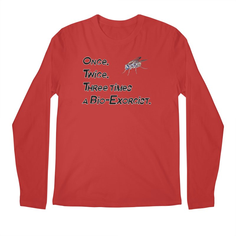 Once. Twice. Three times a Bio-Exorcist. Men's Regular Longsleeve T-Shirt by Jason Henricks' Artist Shop