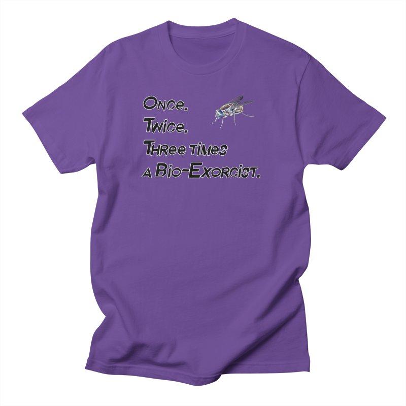 Once. Twice. Three times a Bio-Exorcist. Men's Regular T-Shirt by Jason Henricks' Artist Shop