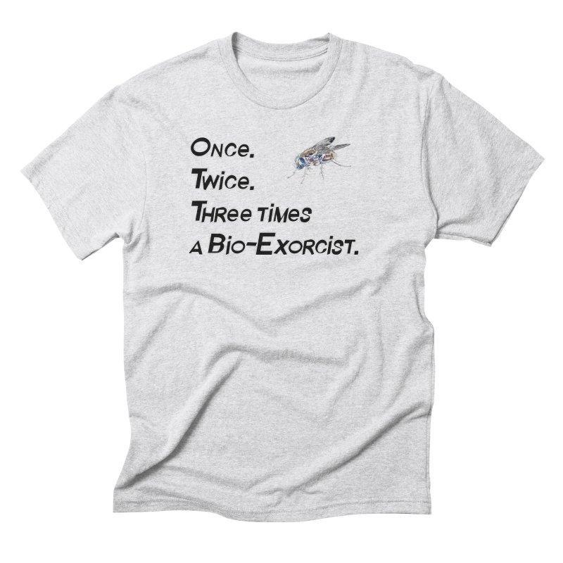 Once. Twice. Three times a Bio-Exorcist. Men's Triblend T-Shirt by Jason Henricks' Artist Shop