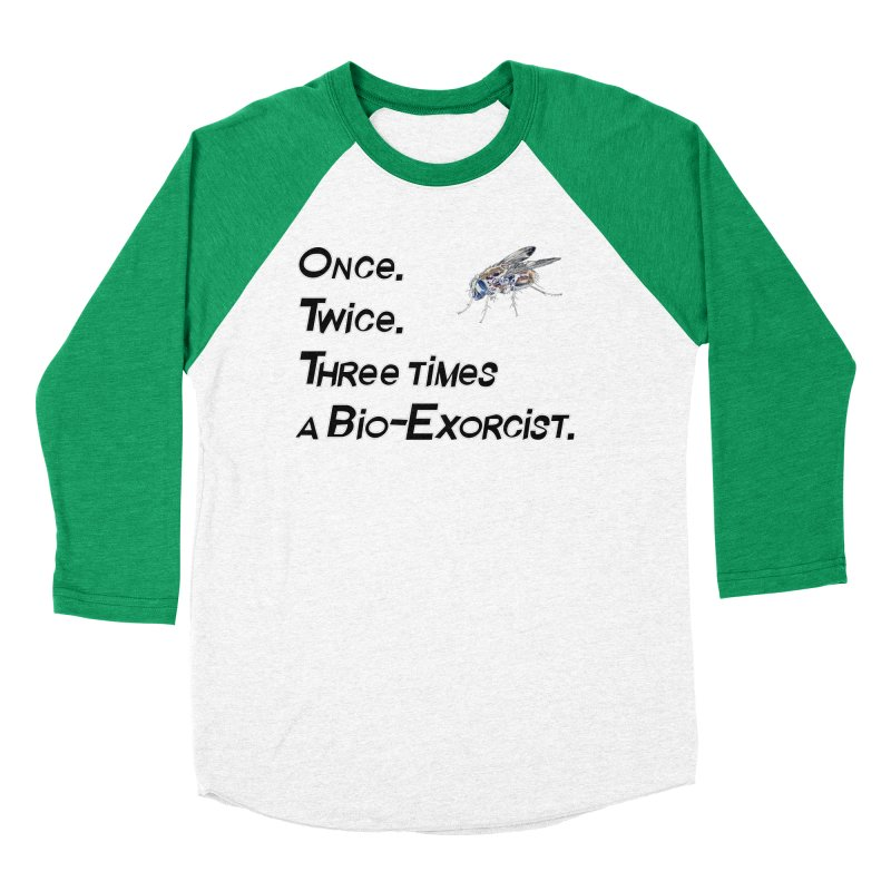 Once. Twice. Three times a Bio-Exorcist. Women's Baseball Triblend T-Shirt by Jason Henricks' Artist Shop