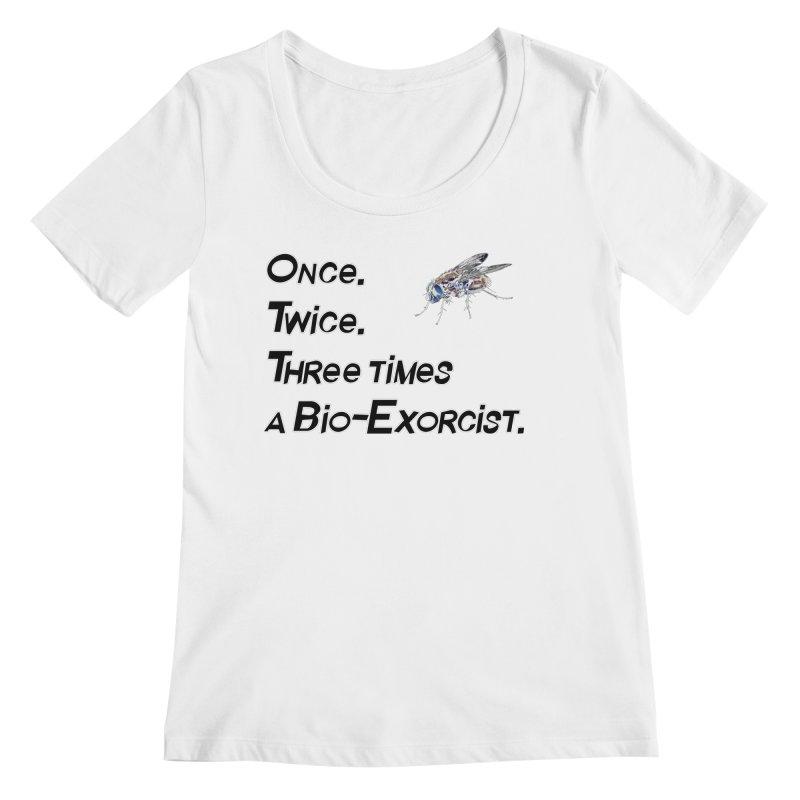 Once. Twice. Three times a Bio-Exorcist. Women's Scoopneck by Jason Henricks' Artist Shop
