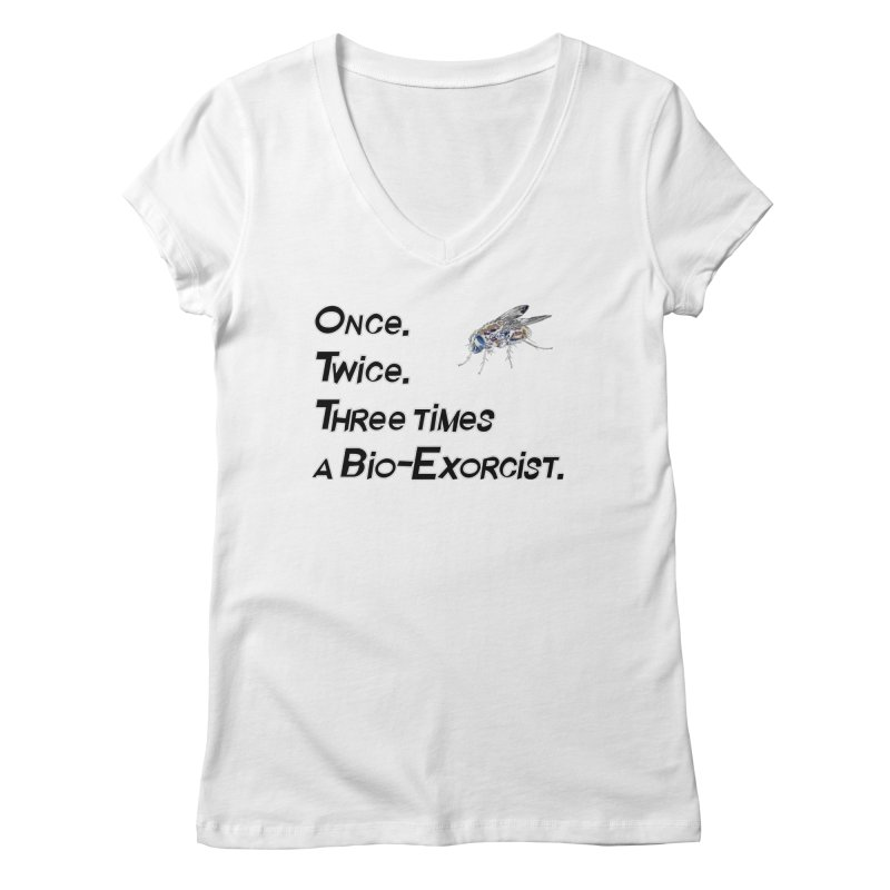 Once. Twice. Three times a Bio-Exorcist. Women's Regular V-Neck by Jason Henricks' Artist Shop