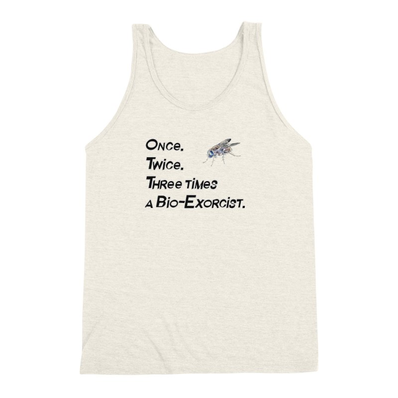 Once. Twice. Three times a Bio-Exorcist. Men's Triblend Tank by Jason Henricks' Artist Shop