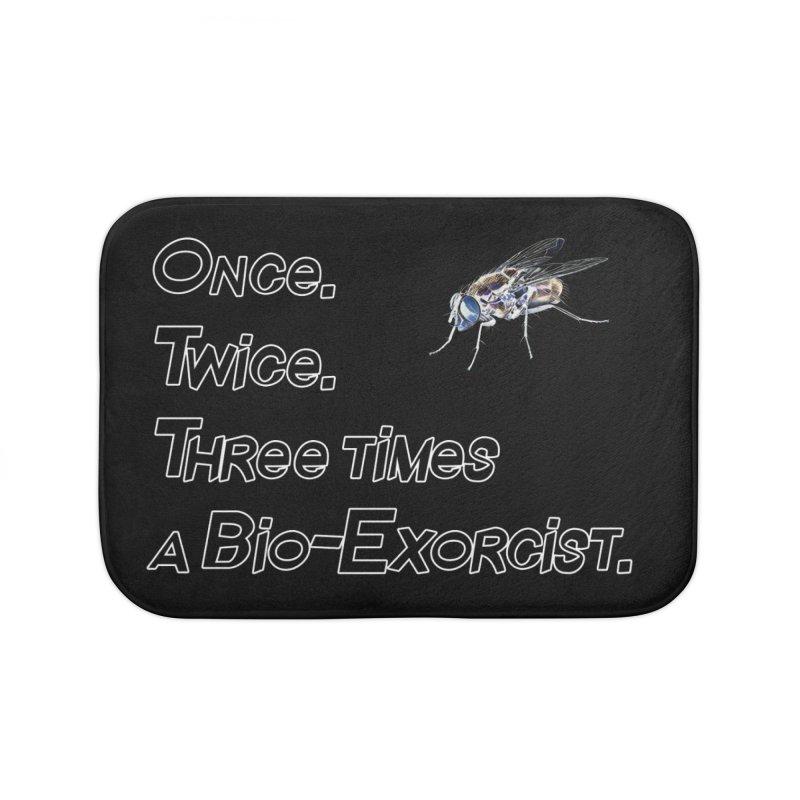 Once. Twice. Three times a Bio-Exorcist. Home Bath Mat by Jason Henricks' Artist Shop