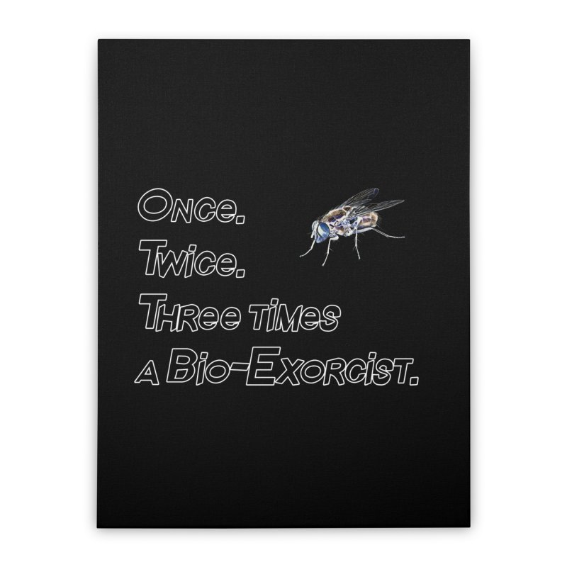 Once. Twice. Three times a Bio-Exorcist. Home Stretched Canvas by Jason Henricks' Artist Shop