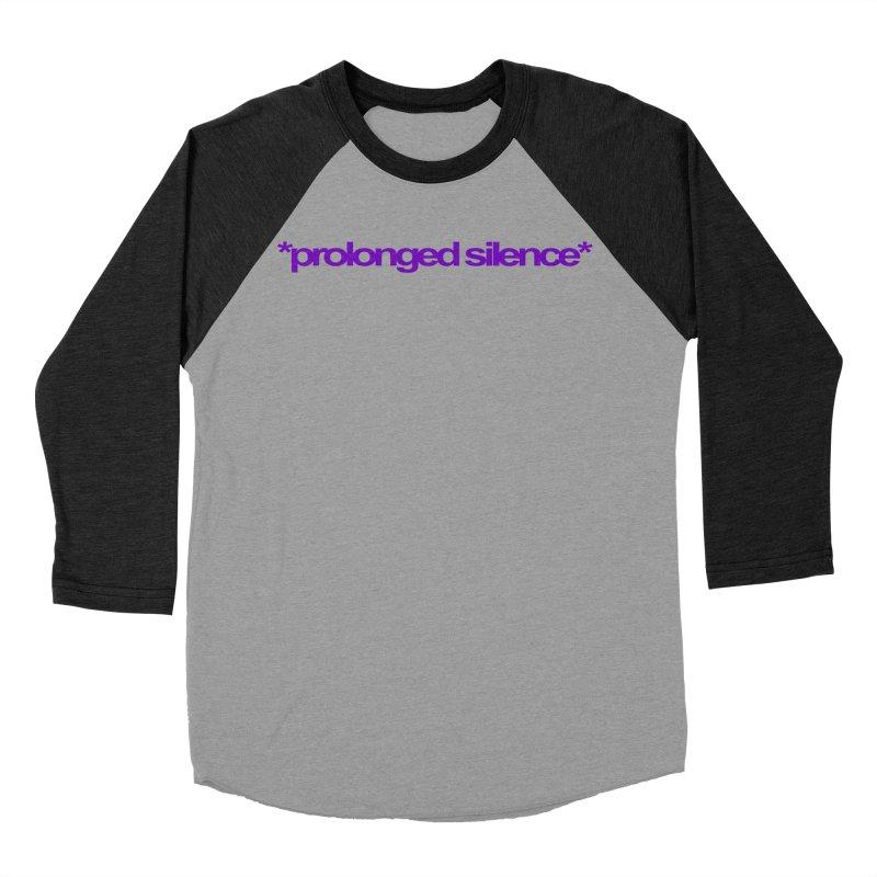Prolonged Silence Men's Baseball Triblend Longsleeve T-Shirt by Jason Henricks' Artist Shop