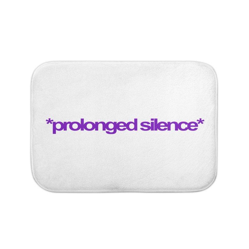 Prolonged Silence Home Bath Mat by Jason Henricks' Artist Shop