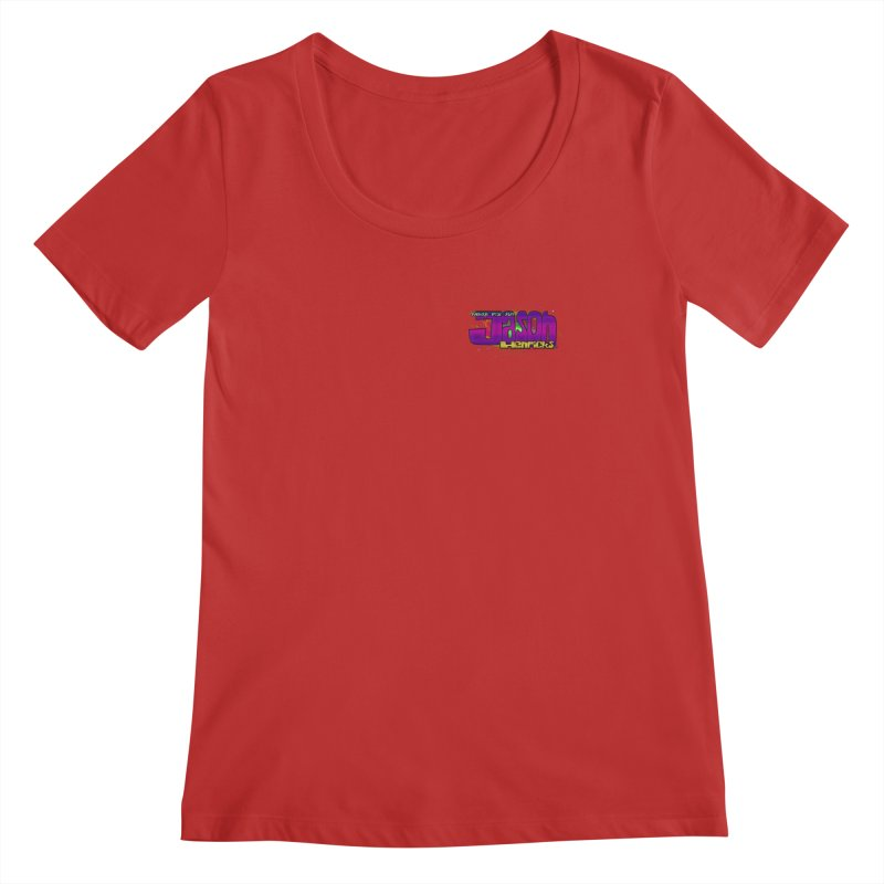 Shameless Self Promotion Women's Scoopneck by Jason Henricks' Artist Shop