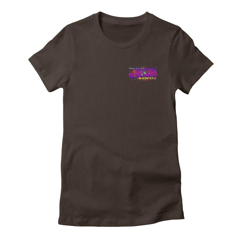 Shameless Self Promotion Women's Fitted T-Shirt by Jason Henricks' Artist Shop