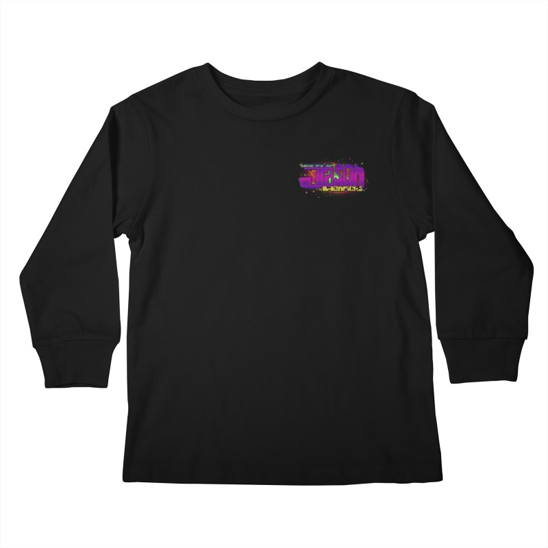 Shameless Self Promotion Kids Longsleeve T-Shirt by Jason Henricks' Artist Shop