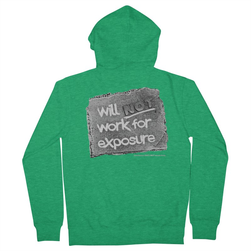 WNWFE (Will Not Work For Exposure) Women's French Terry Zip-Up Hoody by Jason Henricks' Artist Shop